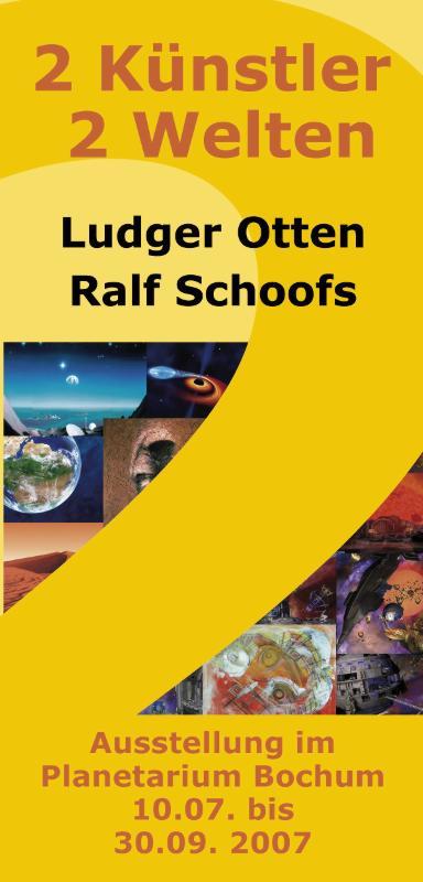 Flyer zur Gemeinschaftsausstellung im Planetarium Bochum 2007.