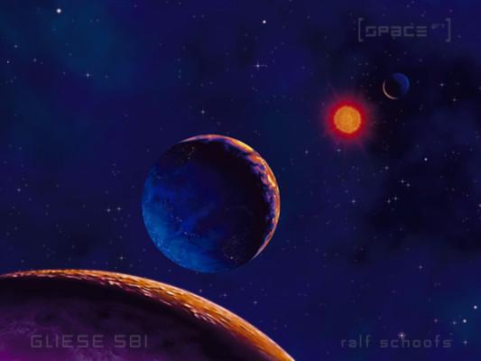 Gliese 581 c und Gliese 581 b