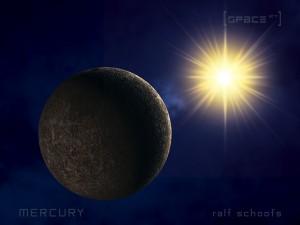 Merkur im Licht der Sonne
