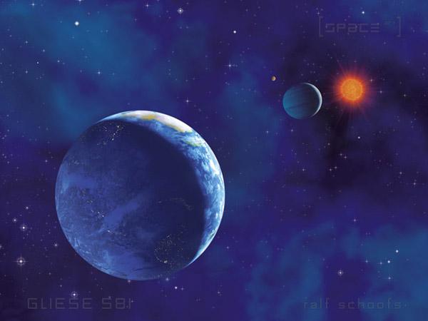 Das Planetensystem von Gliese 581