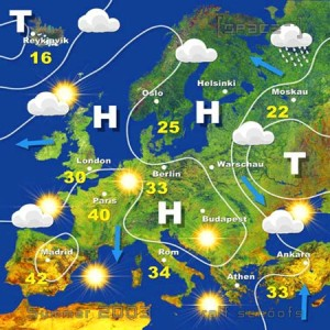 Wetterkarte Sommer 2003 Version 1