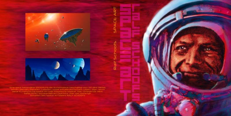 The cover of my Space-Art Book