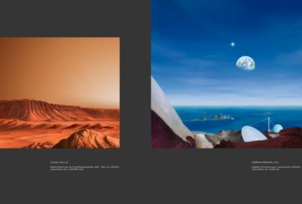 Ralf Schoofs SPACE ART Buch, Seite 26-27
