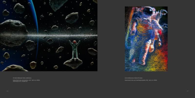 Ralf Schoofs SPACE ART Buch, Seite 36-37