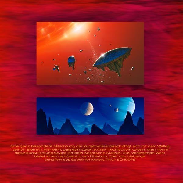 Ralf Schoofs SPACE ART Buch, Rückseite