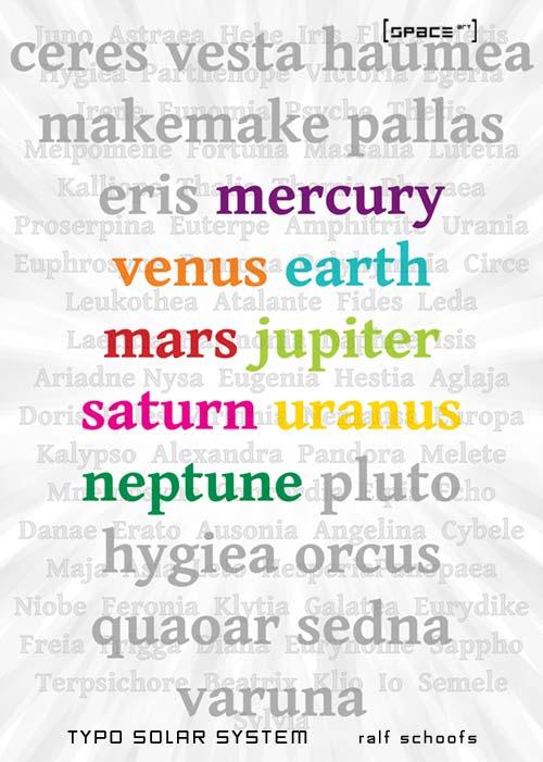 Ein typographisches Experiment mit dem Sonnensystem