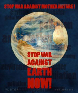 Poster STOP WAR AGAINST EARTH portrait