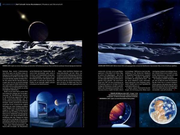 Ralf Schoofs' Astro-Illustrationen. DOCMA, Ausgabe 42, Seite 92-93