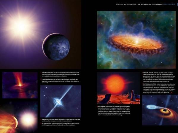 Ralf Schoofs' Astro-Illustrationen. DOCMA, Ausgabe 42, Seite 94-95