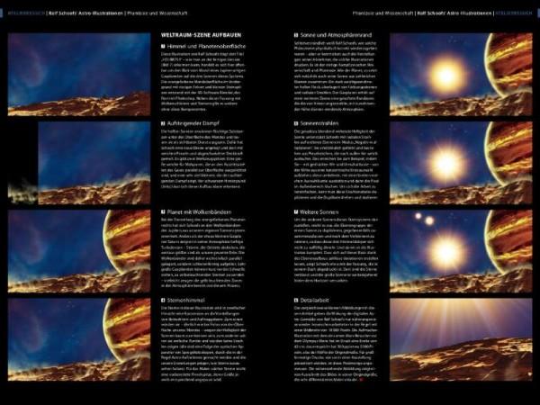 Ralf Schoofs' Astro-Illustrationen. DOCMA, Ausgabe 42, Seite 96-97