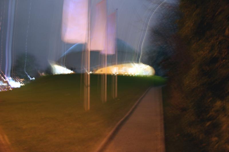 Planetarium Bochum am Abend