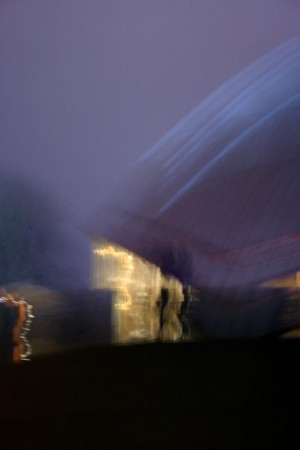Planetarium Bochum am Abend des 13. Dezember 2008.
