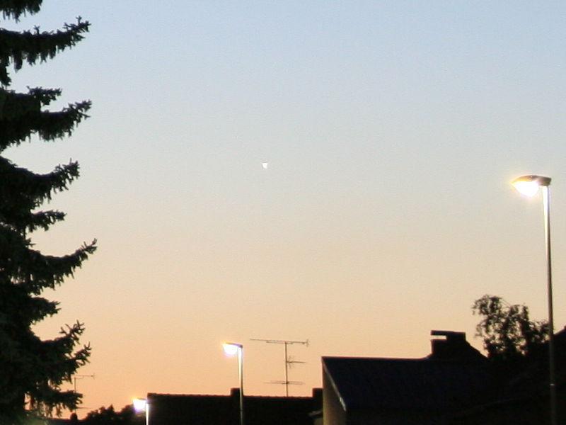 Der Planet Venus in der Abenddämmerung (Ausschnitt)