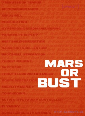 Poster NASA Rover Curiosity - Mars or bust