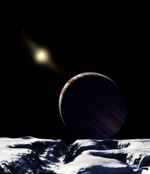 Die eisige Landschaft des Jupitermondes Europa