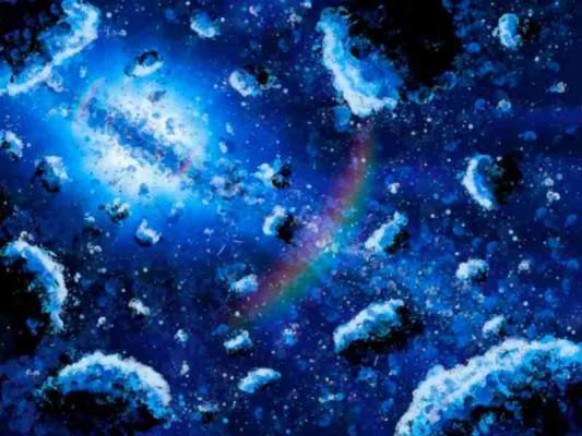 Speedpainting Sonnensystem Vega