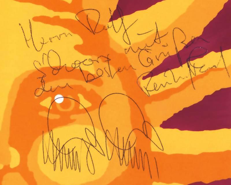 Ausschnitt: Autogramme von PERRY RHODAN-Autor Hubert Haensel und ESA-Astronaut Dr. Reinhold Ewald