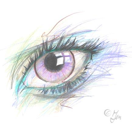 Auge lila von Jen Satora