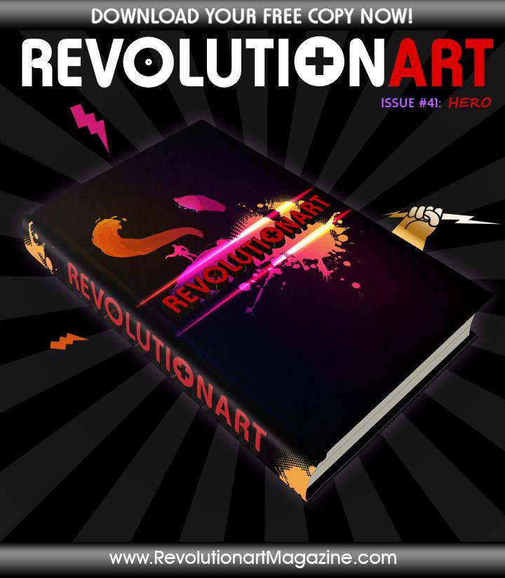 Poster der 42. Ausgabe des Revolutionart Magazine