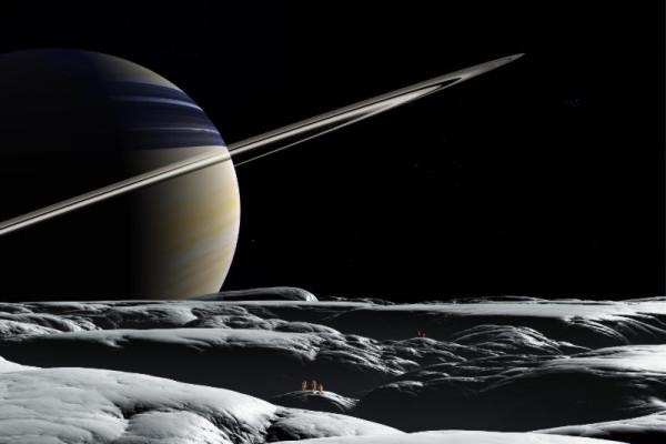 Die Landchaft stammt aus dem Space Art Bild 'Tethys EVA'.