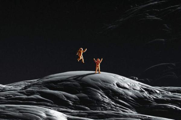 Meine grob gezeichneten Astronauten, Bildausschnitt.