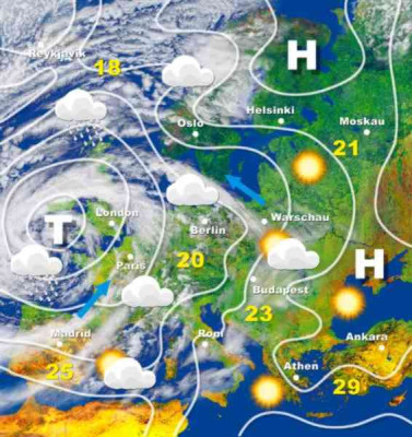 Wetterkarte Europa Tiefdruckgebiet