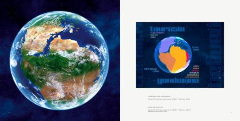 "Ralf Schoofs SPACE ART Buch, Kapitel ""Pangaia"", Seite 20-21"