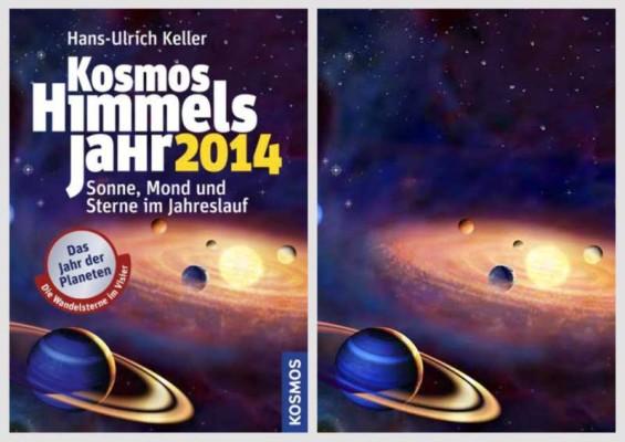 Mein Titelbild für das Himmelsjahr 2014 im Vergleich zum Layout von eStudio Calamar