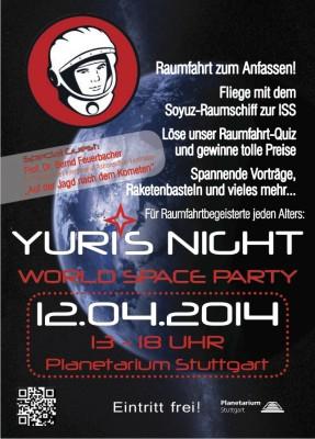 Yuris Night Stuttgart 2014 Flyer
