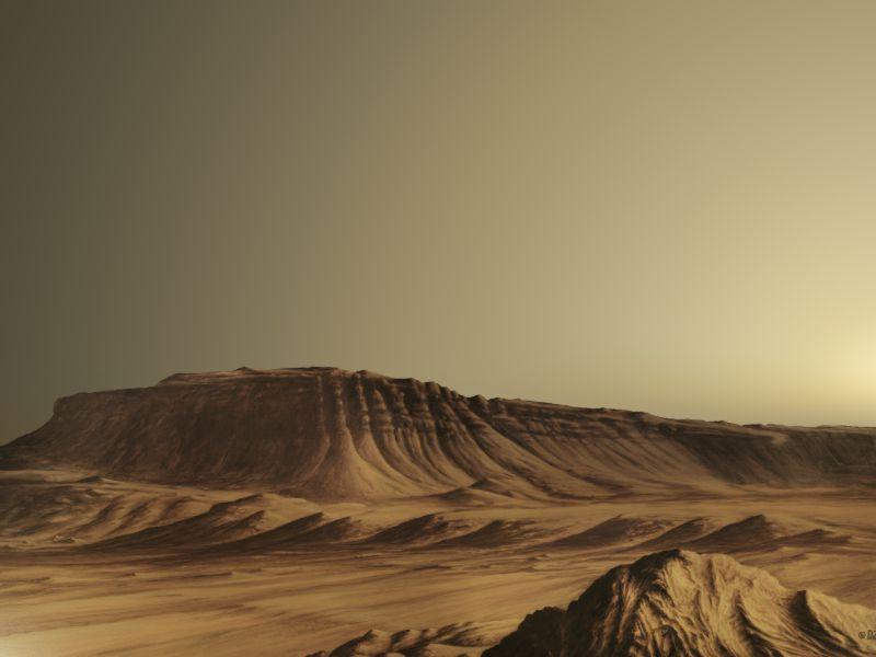 Farblich bearbeitete Fassung des Bildes 'Kasei Vallis'