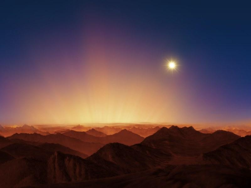 Sonnenaufgang von Alpha Centauri