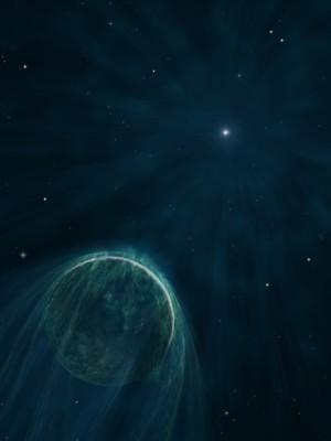 Pulsar PSR B1257+12 und sein Planet A
