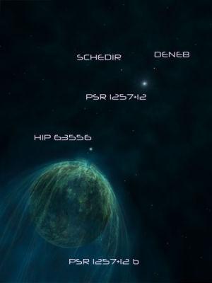 Pulsar PSR B1257+12 Planet A (b) Annotation