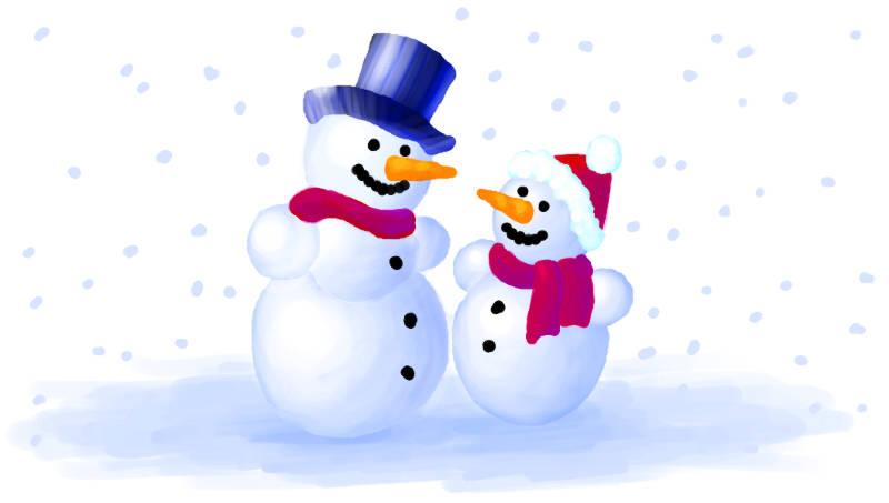 Cartoon: Zwei Schneemänner