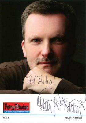 Autogrammkarte von Perry Rhodan Autor Hubert Haensel