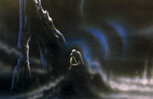 Detailansicht von 'Der trauernde Träumer'.