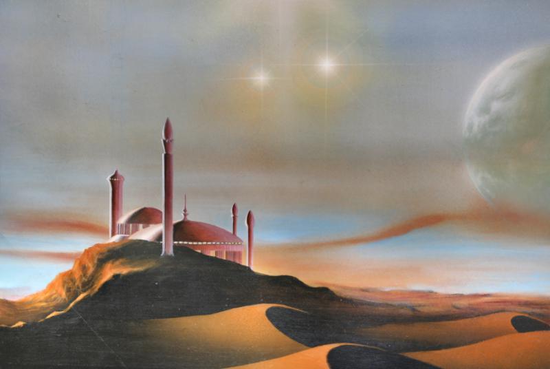 Entwurf für 'Palast in der Wüste'