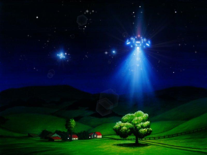 UFO over Farm