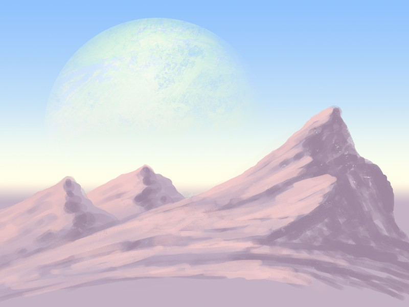 gekritzelte Landschaft