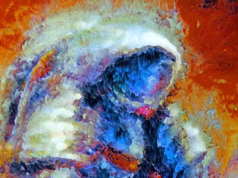 Mensch auf dem Mars, digitale Version, Detailansicht.