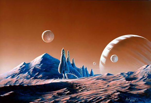 Kolonie auf einem fremden Planeten