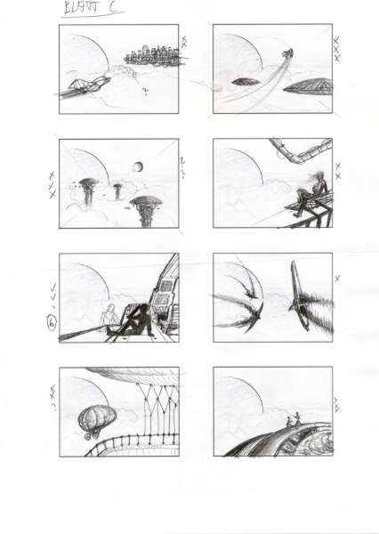 Wolkenreise, Ideenskizzen Blatt C.