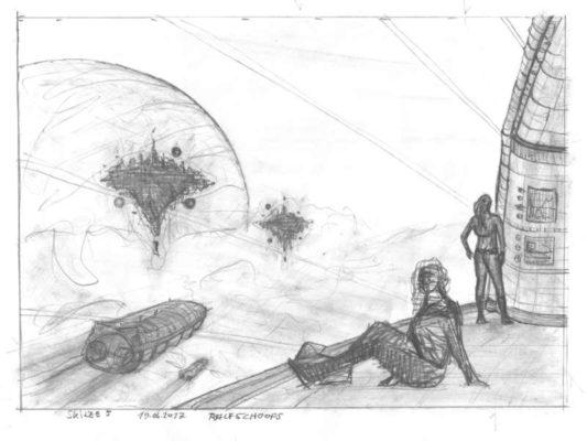 Skizze 5: neues Gekritzel für die Wolkenreise