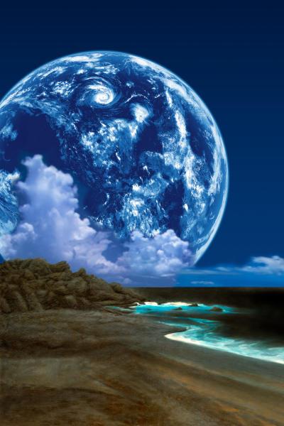 Space Art Bild des Monats: Doppelplanet