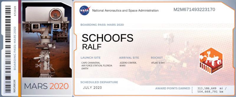 BoardingPass Mars2020