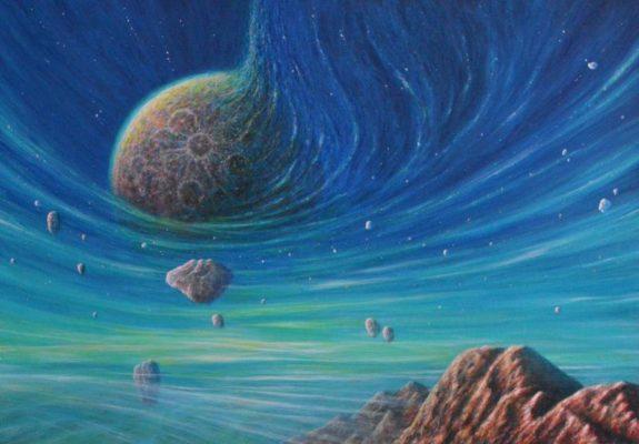 Freies Arbeiten Sci-Fi Landschaft
